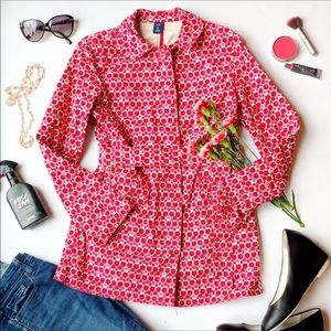GAP rose print short trench coat